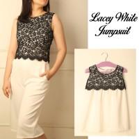 Dress couple | Lacey White jumpsuit | dresscouple | ibu dan anak
