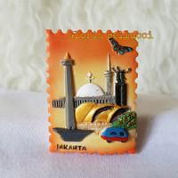 SOUVENIR TEMPELAN MAGNET JAKARTA MONAS INDONESIA