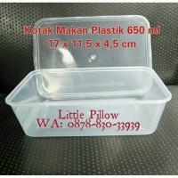Box Plastik Bening 650ml/Kotak Makan Plastik/Thinwall/Food Container