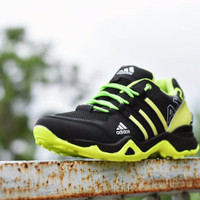 Promo Murah Sepatu Outdoor Adidas AX2 Goretex Hitam Hijau Stabilo / Sp