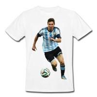 Baju Kaos Bola Lionel Messi Argentina T-Shirt