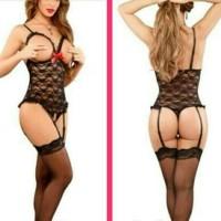 Sexy Lingerie Babydoll Baju Tidur Wanita Seksi Body Stocking Cosplay