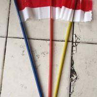 Bendera Merah Putih Plastik Dengan TANGKAI