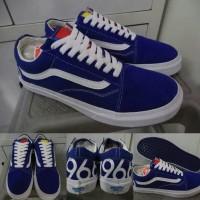 Sepatu Kets Sneakers Skate Vans Old Skool 1966 Classics Blue Biru
