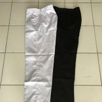 Celana panjang kain warna Hitam dan Putih no 27 , 28 bahan Drill