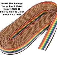 Kabel Pita Pelangi Rainbow 10 Pin AWG 26 Flat Cable