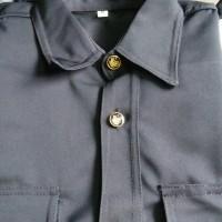baju sapari satpam/baju satpam/separi hitam pendek/baju supir.