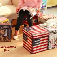 Multifunction Box kotak mainan anak kursi bahan tebal