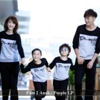 supplier baju familly couple-kaos couple keluarga-fam 2 anak pusple lp