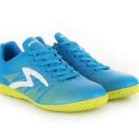 Sepatu futsal specs original apache in arctic blue/solar slime