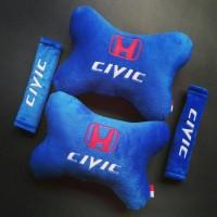 Bantal Mobil Honda CIVIC biru