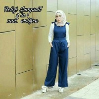 overall jumpsuit polos hijab jamsuit wanita muslim baju jumsuit jp js