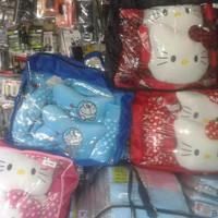 car interior Sarung Jok Agya/Ayla Motif Hello Kitty Merah Bintik Putih