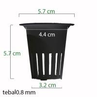 Jirifarm Net Pot Diameter 5 cm Tinggi 6 cm Hitam (10481)