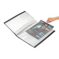 Bantex Display Book 60 Pockets Folio Black #3187 10