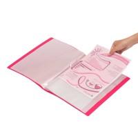Bantex Display Book 60 Pockets Folio Red #3187 09