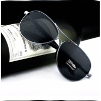 Kacamata Grey Aviator ORIGINAL Polarized kaca hitam Polaroid anti UV