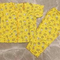 Baju tidur anak / piyama anak kerah V motif Gudetama