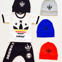 baju bayi murah baju bayi set topi +baju+celana keren unik lucu