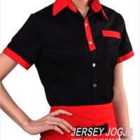 pesan baju seragam barista murah