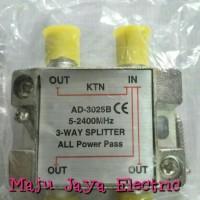 Splitter / Spliter Antena TV 3 Way Jalur KTN Taiwan AD-3025B Besi