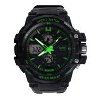 SKMEI S-Shock Sport Watch Water Resistant 50m AD0990 Black/Green 0990