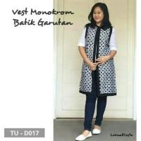 outer vest monokrom batik garutan bolero panjang model baju modernku 9