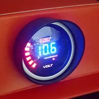 2 Autogauge Voltmeter  Smoke Digital Display AGVOLCD