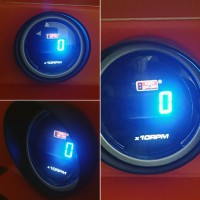 2 Autogauge Tachometer Smoke Digital Display AGDTALCD
