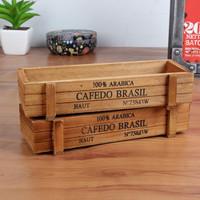 Badas | properti foto kotak kayu hiasan meja pajangan rak penyimpanan