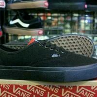 Sepatu Vans Authentic Full Black Hitam Polos Sekolah