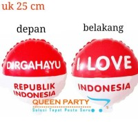 Balon foil bulat merah putih/ DIRGAHAYU/ HUT RI/ 17 AGUSTUS/ indonesia