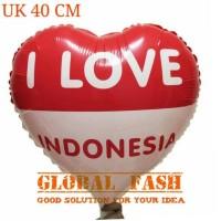 balon foil love merah putih/ balon HUT RI/ balon 17 agustus/ 40 cm