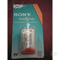 Baterai Kotak Sony 9V / 9 V Volt 450mAh Cash Isi Ulang Rechargeable