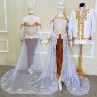 Couple Akad Kebaya Modern Baju Pengantin Free Rok & Selop 2 Pasang