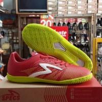 Sepatu Futsal SPECS   Apache In   Dark Red-Solar Slime-White