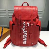 LV backpack Christopher Supreme red epi leather. Ori leather