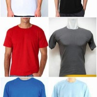 kaos oblong polos merah, biru muda, biru tua, abu, hitam, putih