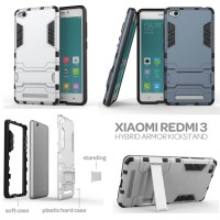 Xiaomi RedMi 3X - Hybrid Armor Kickstand Hard Case Back Cover Casing