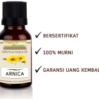 Bersertifikat Happy Green Arnica Oil (10 ml)- Minyak Arnica Terstandar