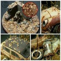 Miniature Daun Kering Efek Diorama Maket Bahan Terrarium Scrapbook