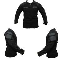 baju kaos tactical bdu combat shirt hitam perekat dada,kreah, tangan
