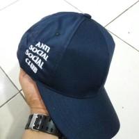 TOPI ASSC BASEBALL CAP BORDIR ANTI SOCIAL CLUB MURAH
