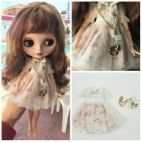 Shabby Chic Dress Floral Baju Boneka Blythe Doll Baju BJD Pullip Icy
