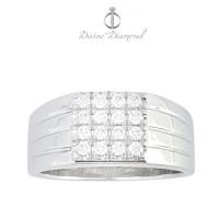 Cincin Berlian Pria Emas Putih Kualitas Hongkong Termurah  - OB161138