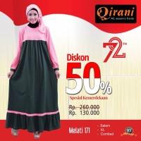 Qirani Dewasa Melati 171 | Baju Perempuan Wanita Muslim Gamis Dress
