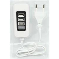 Termurah USB Charger 3 Port 5V 2.1A EU plug Terbaik