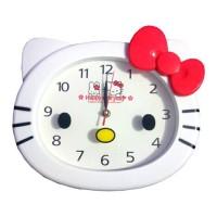 Jam Dinding Kepala Hello Kitty Besar - Putih