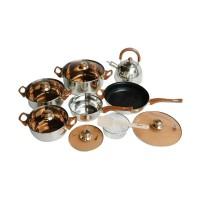 Oxone Panci Set Stainless Steel Ekonomis - Eco Cookware Set OX-933
