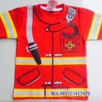 Baju Kaos anak Profesi -PEmadam Kebakaran
